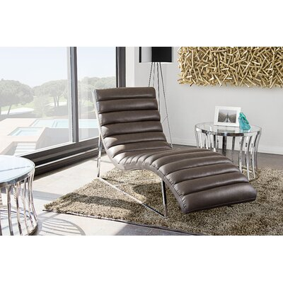 Olney Chaise Lounge Upholstery: Elephant Grey