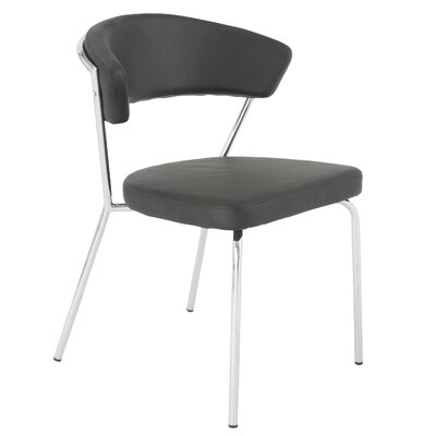 Bielecki Side Chair Upholstery: Black / Chrome