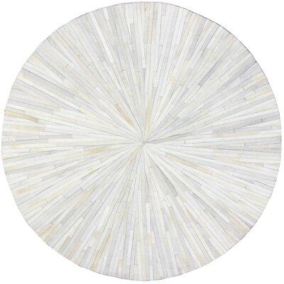 Batam Ivory Area Rug Rug Size: Round 8 x 8