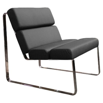 Brayden Angel Lounge Chair Upholstery: Black
