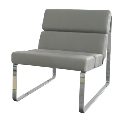 Brayden Angel Lounge Chair Upholstery: Grey