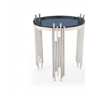 Clower Glass Top End Table