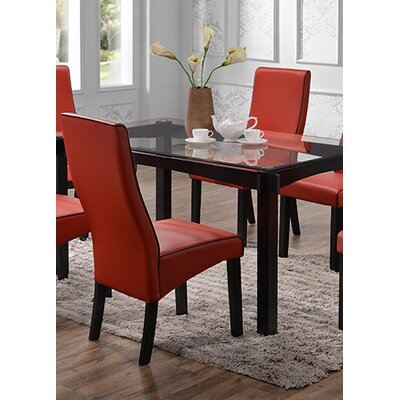 Petaluma Parsons Chair Color: Red