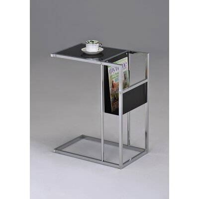 Leonis End Table Finish: Black / Chrome
