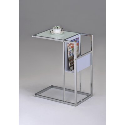 Rowe End Table Finish: White / Chrome