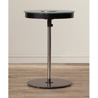 Stephon End Table with LED Light Color: Black