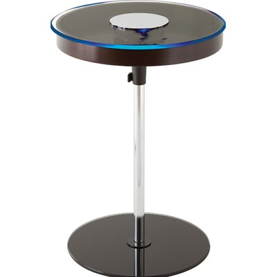 Stephon End Table with LED Light Finish: Merlot