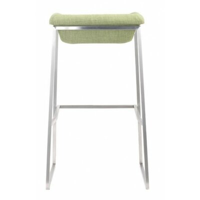 Darby 29.9 inch Bar Stool Seat Color: Green