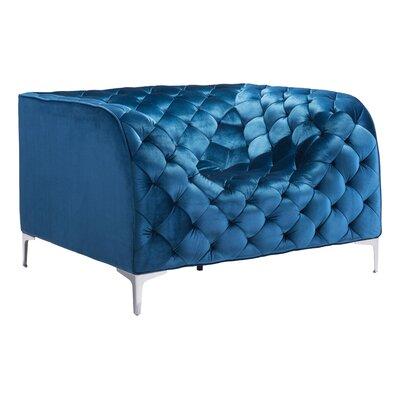 Escobar Arm Chair Fabric: Blue