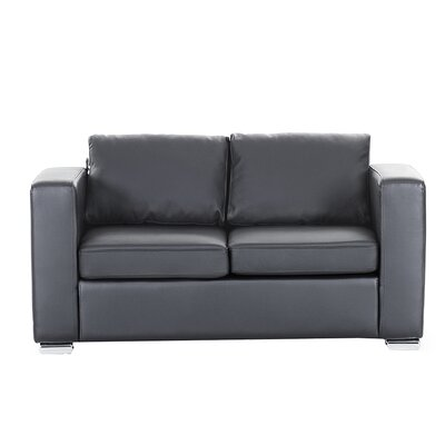 Windsor Hills Loveseat Finish: Black