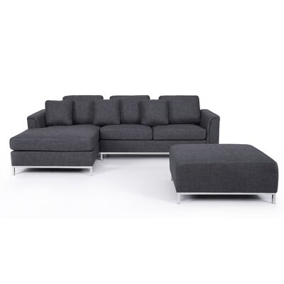 Catlett Sectional Upholstery: Gray