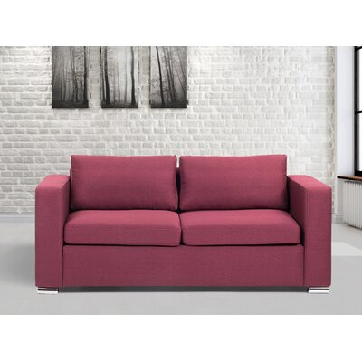 Omar Sofa Finish: Burgundy