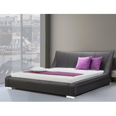 Zain Upholstered Platform Bed Size: King, Finish: Anthracite