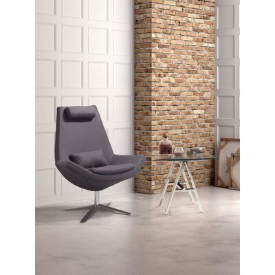 Lorimer Occasional Lounger Chair Color: Charcoal Gray