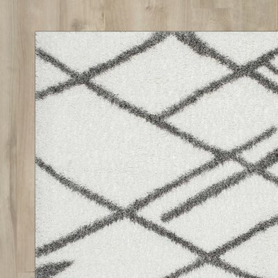 Hendrix White Shag Area Rug Rug Size: Rectangle 92 x 12