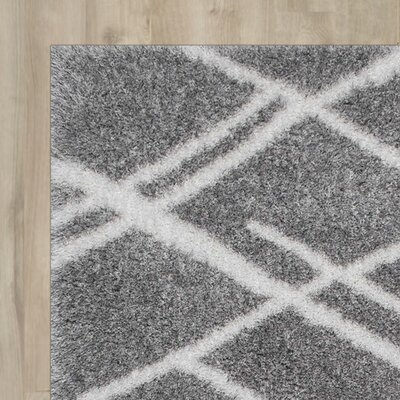 Hensley Gray Shag Area Rug Rug Size: Rectangle 8 x 10
