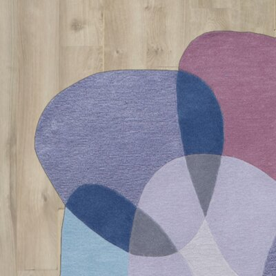 Kaiser Hand-Tufted Blue/Purple Area Rug