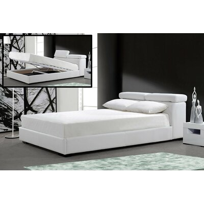 Clower King Upholstered Storage Platform Bed