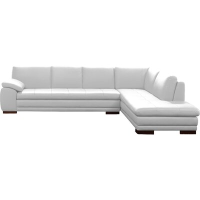 Jerald Leather Sectional Upholstery: White, Orientation: Left Hand Facing
