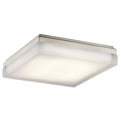 Dave 1-Light Flush Mount Finish: Brushed Nickel, Size: 2.75 H x 12 W x 12 D