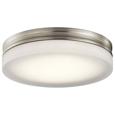 Edwin 1-Light Flush Mount Finish: Brushed Nickel, Size: 2.5 H x 14 W x 14 D