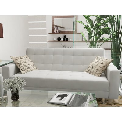 Spirit Lake Sleeper Loveseat Upholstery: White