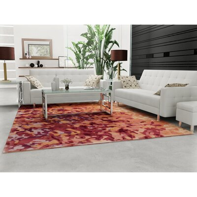 Ayanna Salmon/Coral Area Rug Rug Size: Rectangle 4 x 6
