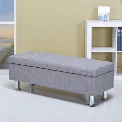 Spirit Lake Storage Ottoman Upholstery: Ash