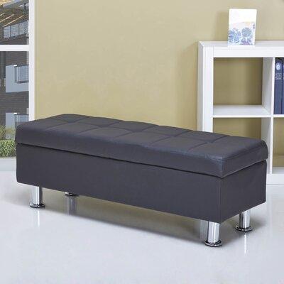Spirit Lake Storage Ottoman Upholstery: Black
