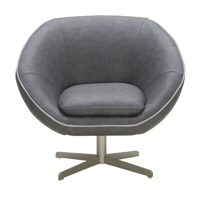 Yohana Lounge Chair Upholstery: Black/White