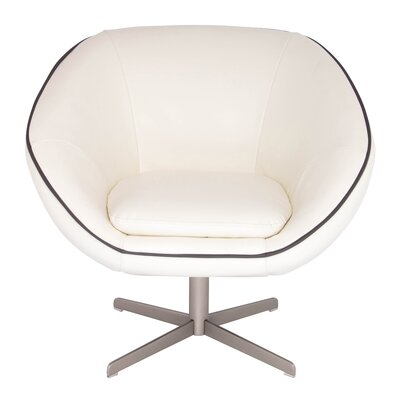 Yohana Lounge Chair Color: Cream/Black