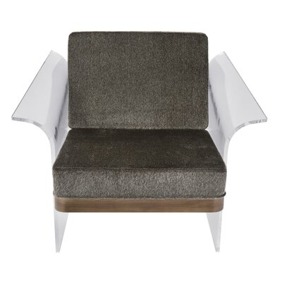 Lupe Float Armchair Upholstery: Brown