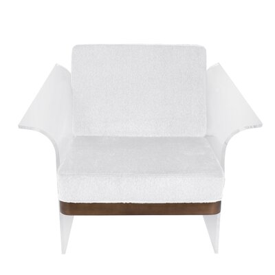 Lupe Float Armchair Color: White