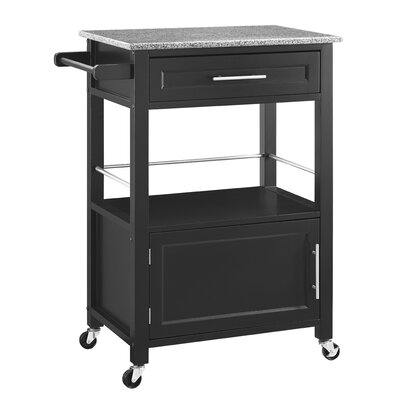 Dunigan Kitchen Cart with Granite Top