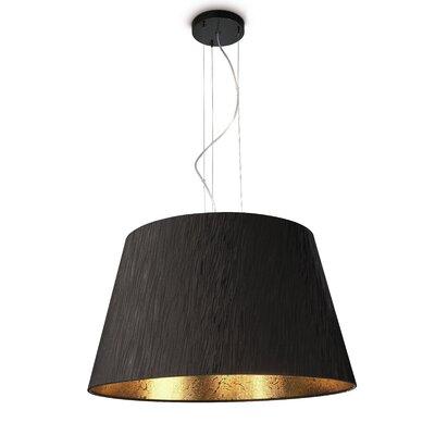 Ashton 1-Light Inverted Pendant Finish: Black