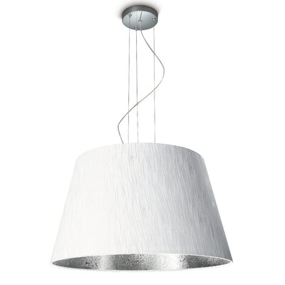 Randi 1-Light Inverted Pendant Finish: White