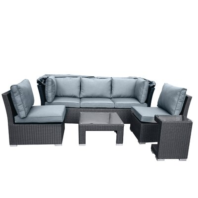 Hudson 5 Piece Deep Seating Group with Cushion