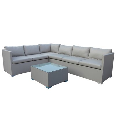 Cepeda 5 Piece Deep Seating Group with Cushion