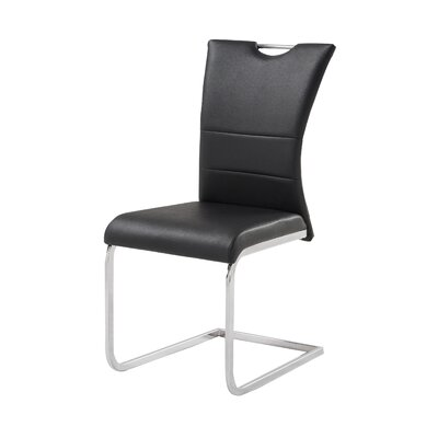 Somnus Side Chair (Set of 4) Upholstery: Black