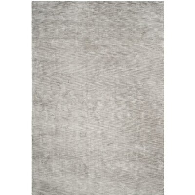 Guy Hand-Loomed Gray Area Rug Rug Size: Rectangle 9 x 12