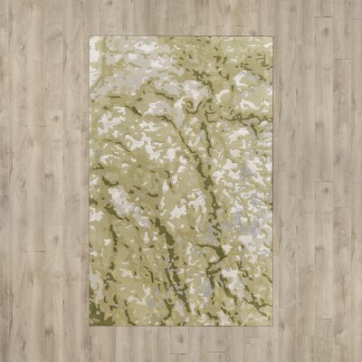 Ayanna Green/Beige Area Rug Rug Size: Rectangle 5 x 76