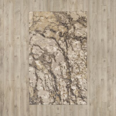 Murillo Olive/Light Gray Area Rug Rug Size: 5 x 76