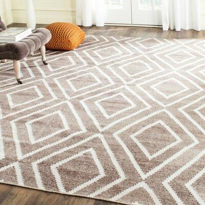 Mata Kilim Ivory/Gray Area Rug Rug Size: 4 x 6