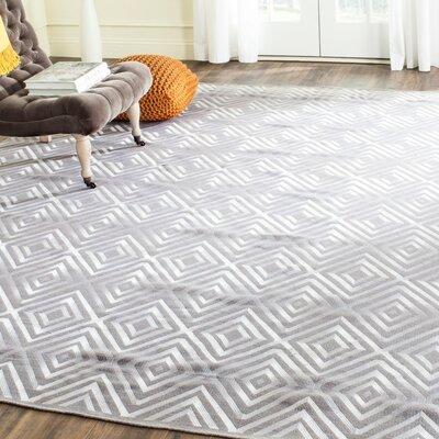 Kilim Hand-Woven Gray Area Rug Rug Size: 4 x 6