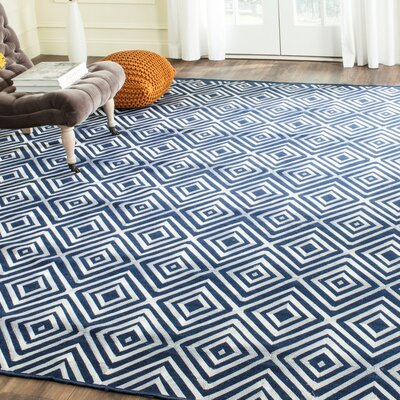 Mata Kilim Navy Area Rug Rug Size: Rectangle 4 x 6