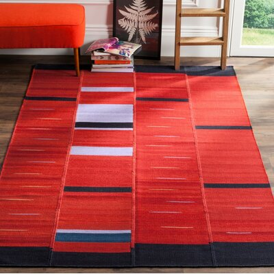 Khang Red Area Rug Rug Size: 4 x 6