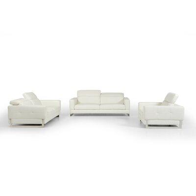 Rodolfo Modern Leather Sofa Set