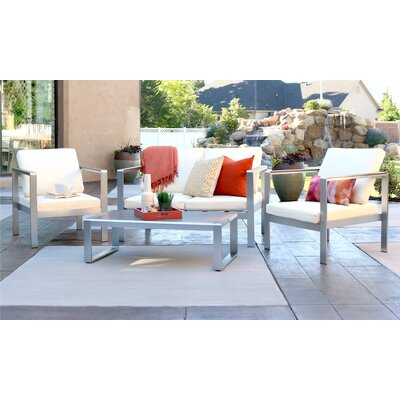 Jody 4 Piece Deep Seating Group with Cushion