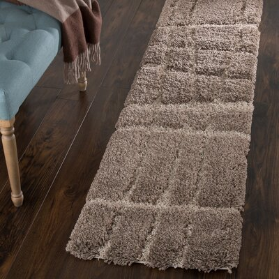 Danil Hand-Woven Brown Area Rug Rug Size: Runner 18 x 7