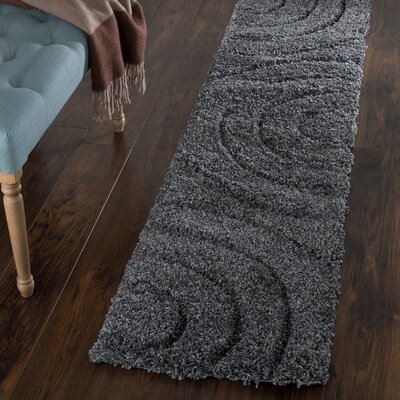 Danil Dark Grey Area Rug Rug Size: Runner 18 x 7